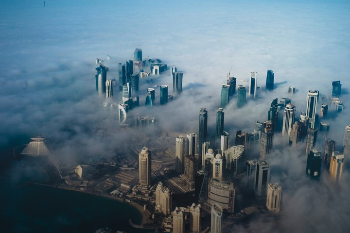 Birdseye view of Qatar Skyline